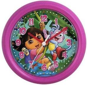Dora and Boots Wall Clock