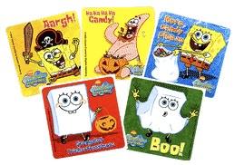 SpongeBob Halloween stickers