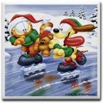 Garfield winter coaster with die
