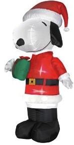 Snoopy Santa Inflatable