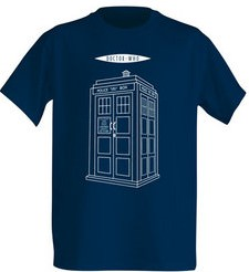 Doctor Who linear Tardis t-shirt