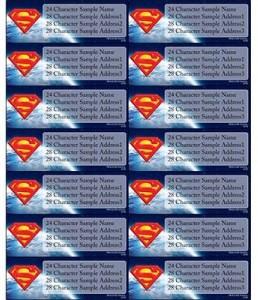 Superman Address Labels