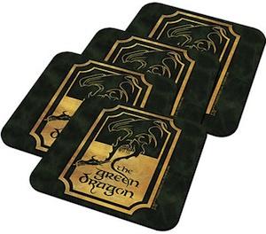 Green Dragon Coaster Set