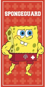 Spongeguard the lifeguard version of Spongebob Squarepants as beach towel