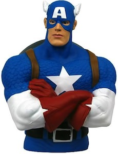 Captain America Money Bank Bust