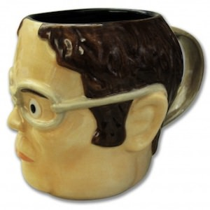 The office Dwight Schrute Head Shaped Mug