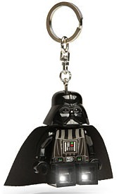 Darth Vader minifig key chain from LEGO with build in flahslight