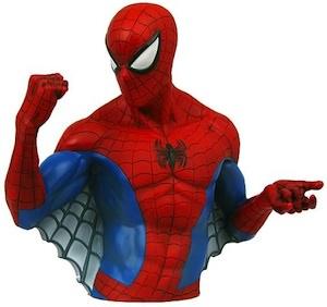 Spider-Man Bust Money Bank