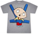 Family Guy T-Shirt with Stewie in a baby sling printed on it
