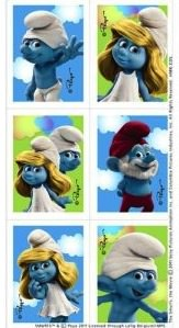 tons of sweet smurf stickers for any occasion