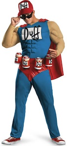Simpsons halloween costume of the Duffman