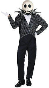 The nightmare before christmas halloween costume of Jack Skellington