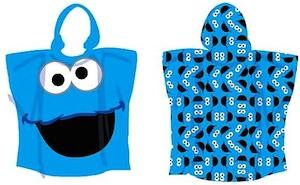 Cookie Monster Hooded Towel