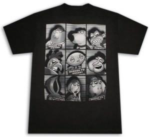 Family Guy Mugshots T-Shirt