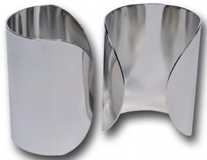 Amazon Silver Bracers Set
