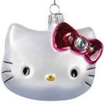 Hello Kitty Glass christmas ornament