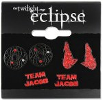Team Jacob Black earrings set of 3