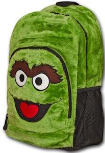 Oscar The Grouch Furry Plush Backpack