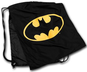 Batman nylon backpack with logo and cape