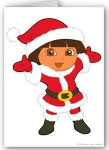 Dora The Explorer Christmas Card