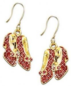 Dorothy's Ruby Slippers Swarovski Crystal Earrings