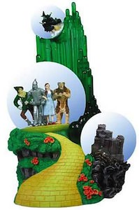 Emerald City Triple Snow Globe