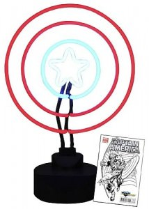 Captain America Neon Sign With Comic
