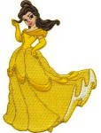 Beauty and the Beast Princess Belle iron on patch