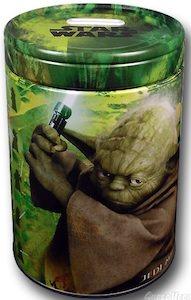 Star Wars Yoda tin can coin bank