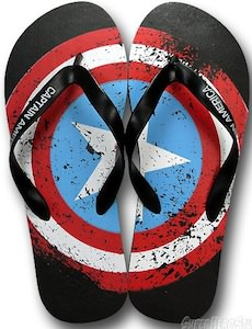 Captain America Flip flops shoes