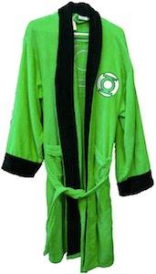 Green Lantern Logo Bath robe