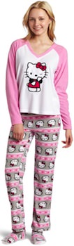 Pink Hello Kitty Pajama set including slippers
