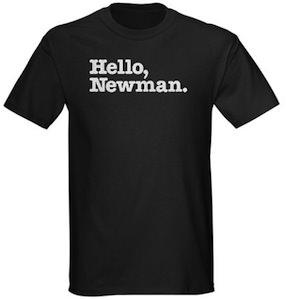 Seinfeld t-shirt saying Hello Newman