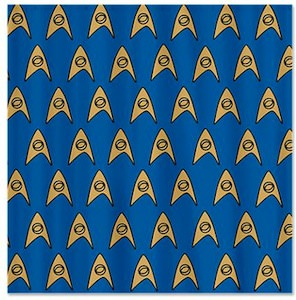 Star Trek Science Shower Curtain