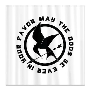 The Hunger Games Mockingjay Shower Curtain