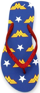 Wonder Woman Glitter Flip Flops