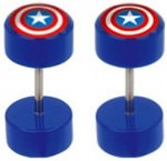 Captain America Cheater Plugs Earrings