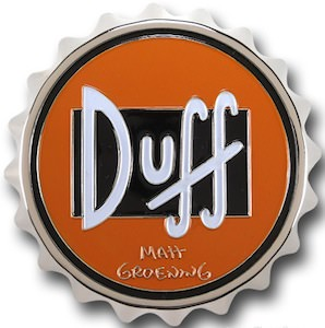 Duff Beer Bottle Cap Belt Buckle