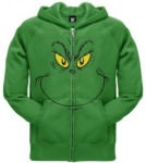 Dr. Seuss Grinch Face Zip Hoodie