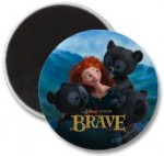 Brave Merida And The Three Bear Cubs Magnet
