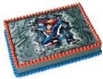 Superman Edible Cake Topper Image