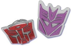 Transformers Logos Cupcake Rings