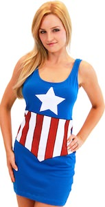 Captain America Tunic Tank Top Dress