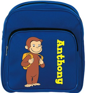 Curious George Blue School Backpack