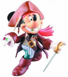 Mickey As Jack Sparrow Figure