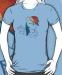 My Little Pony Rainbow Dash Not Amused T-Shirt