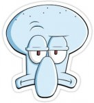 Squidward Tentacles Face Sticker