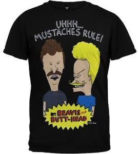 Beavis And Butt-Head Mustaches Rule T-Shirt