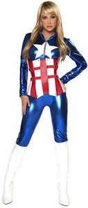 Captain America Sexy Womens Costume