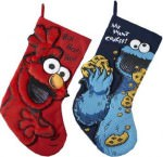 Sesame Street Elmo And Cookie Monster Stocking Set